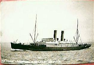 Vintage British Shipping Line Postcard S.S. MAGIC