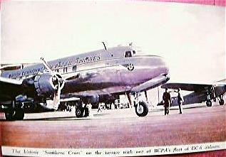 Vintage Airlines Postcard BCPA DC6 Circa 1949