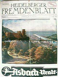 Vintage Heidelberger Fremdenblatt Magazine 1929