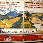 Vintage Rhineland & Bavarian Alps Tour Booklet 1929
