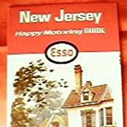 Humble Oil ESSO New Jersey Travel Map 1964