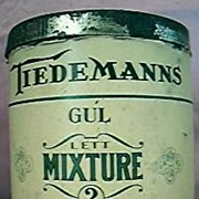 TIEDEMANNS Lett Mixture Smoking Tobacco Tin Circa 1930's