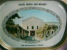 Paarl  Wines Advertising Drinks Tray