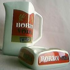 Borzoi Vodka Jug & Ashtray Set