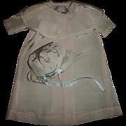Vintage Baby Doll Pink Silky Taffeta Christening Coat & Bonnet Set