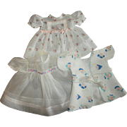 2 Cute Vintage Baby Doll Dresses and Flannel Baby Doll Robe