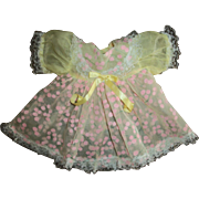 Sweet Factory Pink Flocked Easter Dress For Tiny Tears