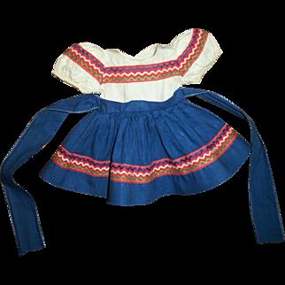 Vintage Effanbee Patsy Joan Peasant Style Dress