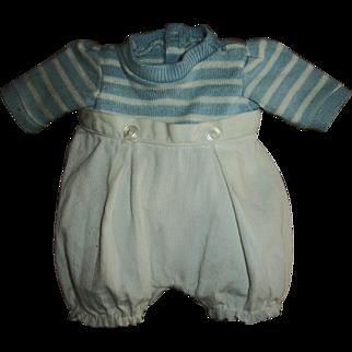Vintage Madame Alexander Original Butch Knit and Pique Romper