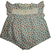 Vintage Sweet Tiny Rosebud Print Romper For Your Baby Doll
