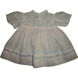 "Vintage Pretty Factory Baby Doll Dress For 21""-22"" Doll"
