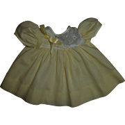 Pretty Vintage Factory Yellow Dress For Your Tiny Tears or Betsy Wetsy Baby Dolls