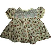 "Vintage  Lovely Factory Crisp MINT! Printed Dimity Dress For 13"" Tiny Tears, Betsy or Other Baby Dolls"
