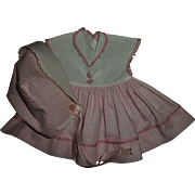HTF Pink Checked Original Tiny Tears Dress & Bonnet~Lovely!!!