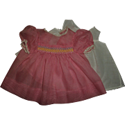 """Mint!!  Smocked Organdy Dress With Slip For 20"""" Dy-Dee Lou"""