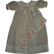 """Vintage Effanbee 15"""" Dy-Dee Mold 1~Long Sleeved Organdy Gown With Matching Bonnet~MINT!!"""