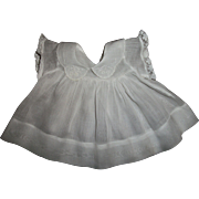 """Vintage Effanbee 15"""" Dy-Dee SHORT Version of the White on White Embroidered Collar Dress"""