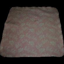 "Vintage RARE ""Bi-Bye Baby"" Effanbee Dy-Dee Doll Pink and White Reversible Blanket"