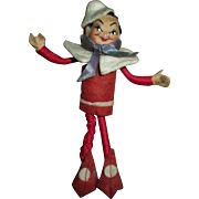 "Vintage Tiny Town ""Like"" With Composition Head Elf~Santa's Helper"