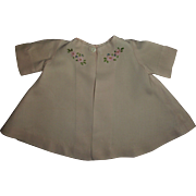 Vintage Pink Linen Embroidered Swing Coat