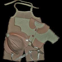 Original American Character Tiny Tears Corduroy Overalls & Pink Felt Coat & Hat Set ~NICE!~