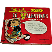 16 Mint! Little Lulu and Tubby Stand-Up  Valentines~Box Set!