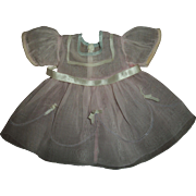 Original Ideal Composition Shirley Temple Organdy Dress