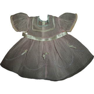 Original Ideal Composition Shirley Temple Organdy Dress