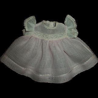"Vintage Pink Organdy Dress For 13""Effanbee Dy-Dee"