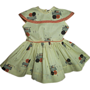 Vintage Mint Terri Lee Park Bench Umbrella Raindrop Dress
