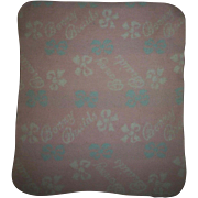 Rare Ideal Bonny Braids Pink and Blue Wool Signature Blanket