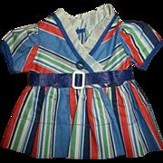 Crispy Mint Arranbee, R&B Striped Debuteen Dress