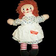 Vintage 1951 Georgene Raggedy Ann Doll Tagged & Also Hang Tag Clean!!