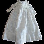 Antique Doll Dress Windowpane Fabric~Lined Bodice
