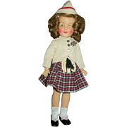 "Vintage Ideal 12"" Vinyl Shirley Temple In Complete Wee Willie Winkie Scottish Outfit"