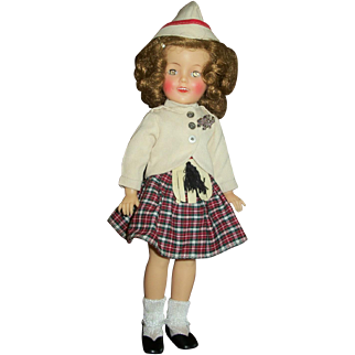 """Vintage Ideal 12"""" Vinyl Shirley Temple In Complete Wee Willie Winkie Scottish Outfit"""