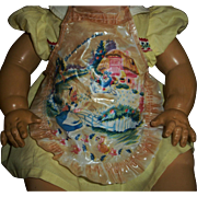 "Vintage 20"" Dy-Dee Doll Alice In Wonderland Vinyl Apron"