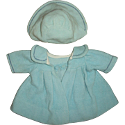 Original  Effanbee Blue Dy-Dee Doll Coat and Bonnet Set - Red Tag Sale Item