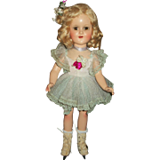 Beautiful Composition Madame Alexander Sonja Henie Doll In Lovely Net Lace Skating Dress