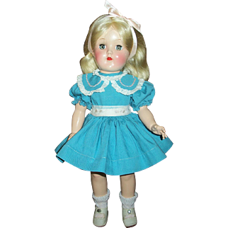 Vintage All Original Ideal Toni Doll~Hard Plastic Girl With Long Blonde Hair