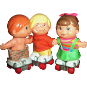 Darling Mattel Small Shot Dolls Little Hot Wheel Roller Skaters