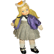 Vintage Georgene Novelty British Girl Cloth Doll