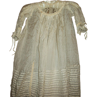 Antique SILK and Lace Dress for Bisque Dolls
