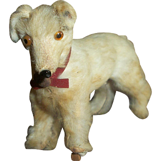 Cute Real Fur Dog~Made In Germany~For Doll Displays