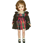 Stunning Composition Arranbee Doll With Original Coat & Dress Outfit