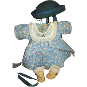 Vintage Effanbee Complete Movie Ann Shirley Patricia~Patsy Outfit Including Hat!!