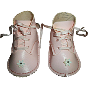 Cute Pink Oil Cloth Shoes for Large Baby Dolls
