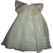Vintage Ideal Baby Doll 3 Piece Set~Organdy Gown~Slip~Silk Bed Jacket~Original To Bonny Braids