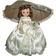 "Beautiful 8"" Betsy McCall Brunette First Face Bride Doll"