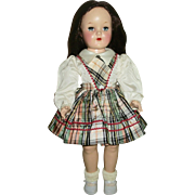 Vintage Ideal P-92 All Original Brunette No Bang HP Toni Doll